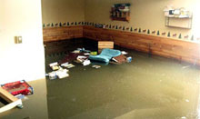Flooded basement image
