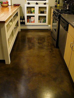 PuroClean water damaged concrete floor
